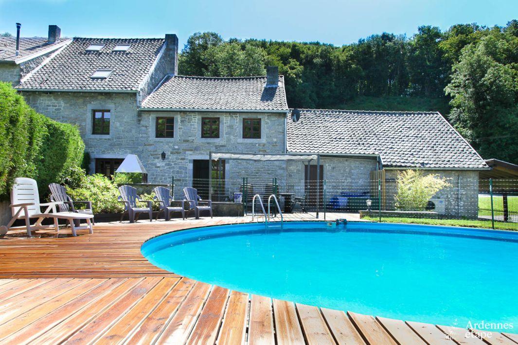 Maison de vacances de caract re pour 9 personnes avec for Camping ardennes belges avec piscine