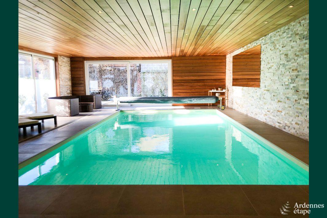 Chaleureuse maison de vacances coo pour 9 personnes en for Recherche maison avec piscine pour vacances