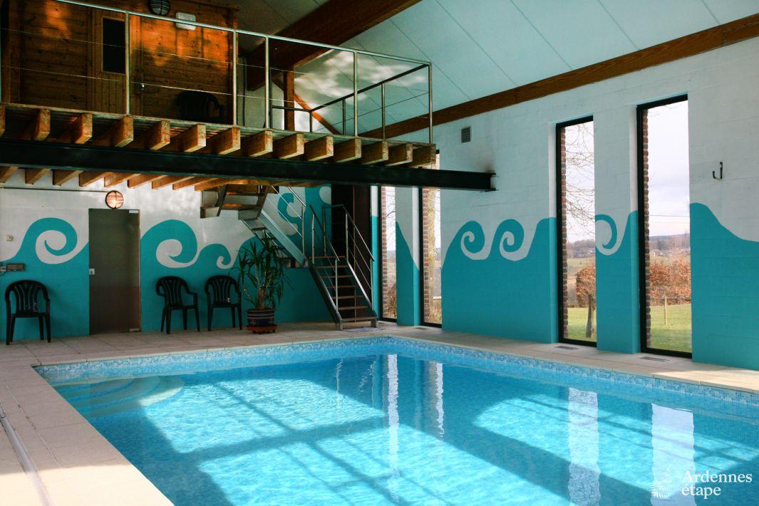 Maison de vacances accueillante avec espace wellness 8 for Piscine sauna