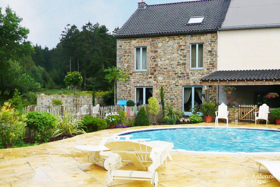 Luxueuse maison de vacances avec piscine et wellness pour for Recherche maison avec piscine pour vacances