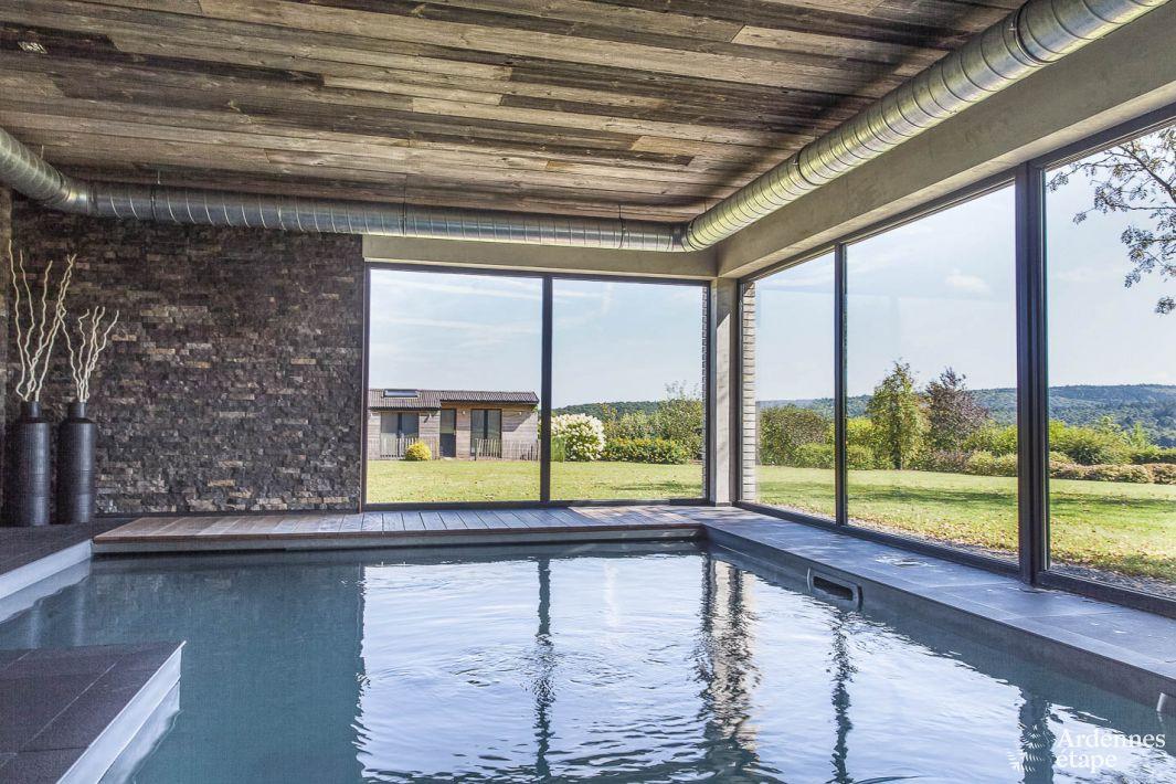 villa de luxe avec piscine int rieure et confort haut de gamme jalhay. Black Bedroom Furniture Sets. Home Design Ideas