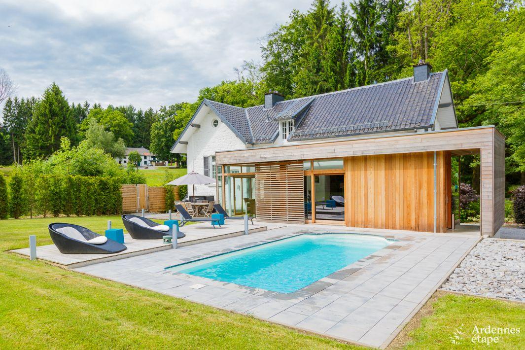 Villa de luxe pour 6 pers avec jardin et piscine spa for Camping ardennes belges avec piscine