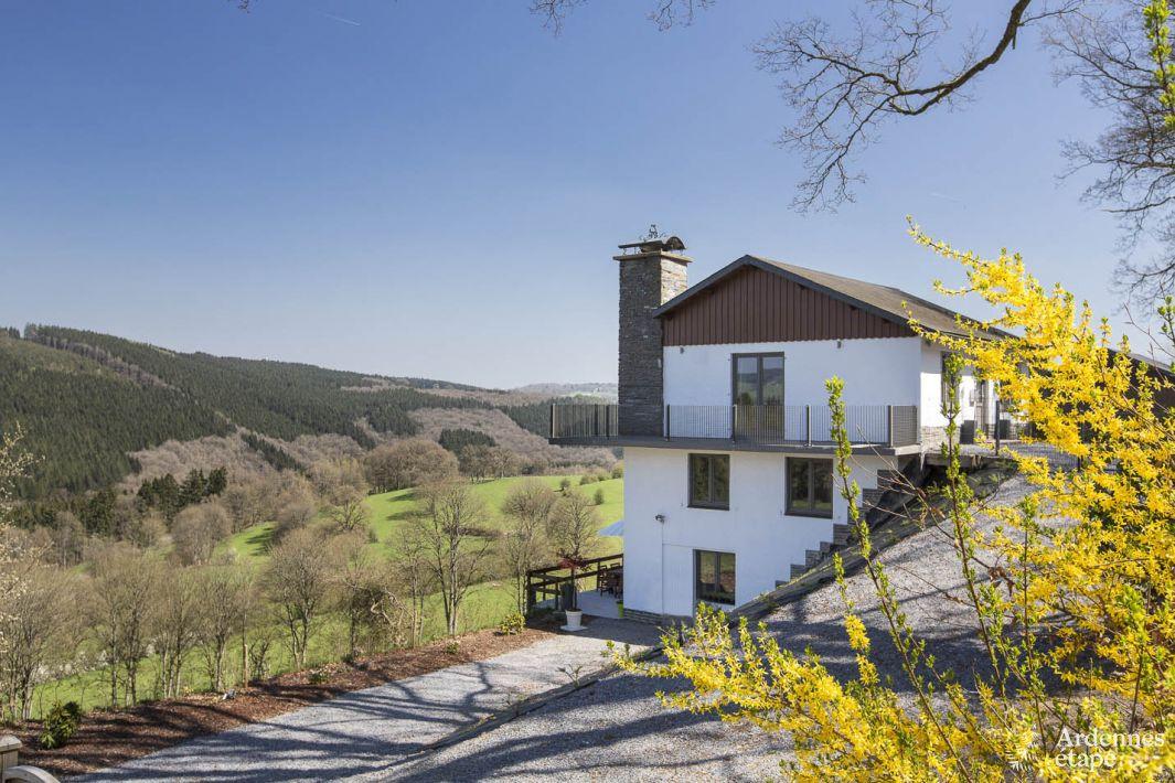 Gite tout confort sur les hauteurs de stavelot jacuzzi et for Maison de vacances linge de maison