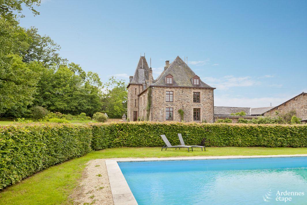 ch teau avec piscine dans le jardin pour 10 personnes trois ponts. Black Bedroom Furniture Sets. Home Design Ideas