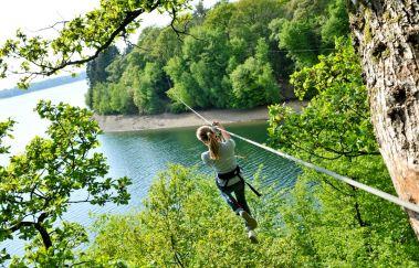 Natura Parc des Lacs de l'Eau d'Heure-Parcours challenge à Province de Hainaut