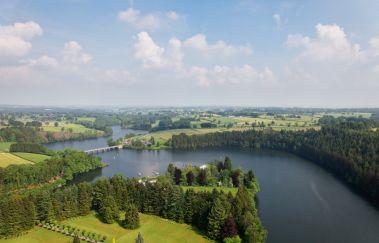Lac et Barrage de Robertville-Sports d´eau à Province de Liège